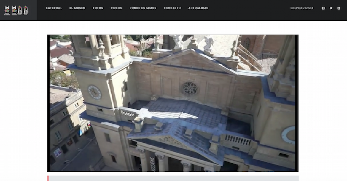 Web Catedral de Pamplona